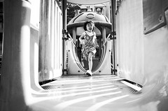 Running Girl ( aikawake) Tags: life blackandwhite cute girl beauty childhood children fun outside happy blackwhite kid funny child outdoor awesome happiness running run frame littlegirl littlepeople ricohgr  taiwanese bnw magichour    happyday      littlechild