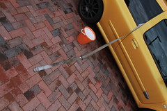 182 Driver's Belt Cleaning 1 (AcidicDavey) Tags: yellow clio renault liquid 182