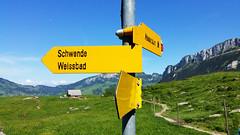 Wegweiser (Swizzly) Tags: alps schweiz switzerland smartphone mobilephone signpost alpen alpstein wegweiser appenzellerland