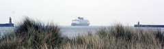 Out to Grass (quintinsmith_ip) Tags: sea people river fun ship down tourist disney passenger passing shipping southshields waltdisney disneymagic rivertyne