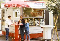 It's the Wurst! (george.bremer) Tags: autumn film austria stand nikon eating slidefilm scan snack epson vendor f3 wurst e6 kitzbhel v750 wittnerchrome