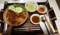 Claypot cuisine (Roving I) Tags: cuisine soup salad chili rice cucumber bamboo meat vietnam claypot spices dining dishes sauces trays danang foodcourts chopssticks