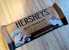 Hershey's Bar. (dccradio) Tags: nc candy hats northcarolina retro hersheys almonds sweets treat candybar wrapper chocolatebar throwback milkchocolate lumberton robesoncounty