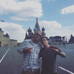 #Repost @shinedown: @thebrentsmith iIt is beyond an honor to share these moments in time with this great man @bjakelawson #russia #BrentSmith #Shinedown (ShinedownsNation) Tags: zach eric bass nation smith barry brent myers shinedown kerch shinedowns