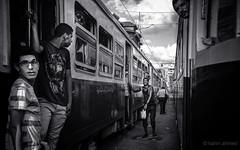 Trams and people (karimahmed1) Tags: new people bw blakandwhite photography photo nikon egypt egyptian trams