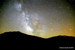 Voie Lacte. (Antoine Gravini) Tags: sky nature night way stars landscape corse horizon corsica ciel galaxy paysage milky nuit galaxie voie toiles lacte