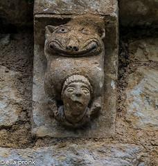 2015-09-05 La Rochette, église Saint Sébastien, Charente, Poitou CharentesDSC9374 (ellapronkraft.) Tags: larochette églisesaintsebastien chatente poitoucharentes artromanesque artroman middleages moyenage monster man