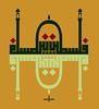 Falasteen (Jamal Muhsin) Tags: blue light black art yellow square golden circles name mosque calligraphy script masjid islamic jamal quranic kufic muhsin kufi ayat islamiccalligraphyredgreen