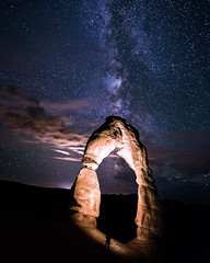 Solar Arch (jrmy.davies) Tags: park light sky people mystery dark way landscape evening utah arch space surreal arches galaxy national astrophotography planet moab astronomy delicate exploration milky astrology 500px ifttt