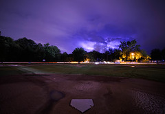Struck Out. (+Lonnie & Lou+) Tags: longexposure travel blue sky storm home nature night clouds purple baseball florida sony jacksonville lighttrails lightning a7r