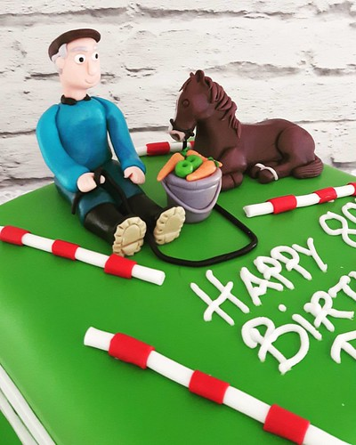 80th Birthday Cake For A Man Who Loves His Horse 80thbirthday Cannaboe