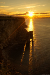 Beams Through The Staple, Yorkshire, UK (EmPhoto.) Tags: sonya7r sonyzeiss2470mm sunset sunbeamsthroughseaarch bempton seacliffs staplenewk eastyorkshire uk seascape landscapepassion emmiejgee