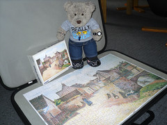 Wot a borin' pikchur! (pefkosmad) Tags: bear unicef charity ted art painting toy stuffed soft teddy fluffy hobby plush puzzle leisure jigsaw complete pastime 1000pieces lucienpissarro tedricstudmuffin villagenearlagny