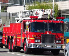 Seattle Fire Department/L3 (zargoman) Tags: seattle water truck fire smoke police hose burning emergency firefighter department firefighters response dispatch