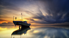 Heading to the Cloud [Explored] (eggysayoga) Tags: longexposure sky bali cloud seascape motion reflection ferry sunrise indonesia landscape mirror boat nikon ss tokina filter le 09 lee nd tuban graduated waterscape slowspeed gnd nd1000 nd32 1116mm d7000