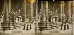 Italy, Loggia dei Lanzi Florence c1910 stereo (AndyBrii) Tags: camera italy stereo richard 1910 viewer slides 1908 transparencies verascope taxiphote