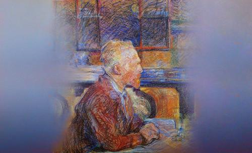 """Mentores, homenaje a Vincent van Gogh de Henri de Toulouse Lautrec (1887), y al padre de Pablo Picasso (1896). • <a style=""""font-size:0.8em;"""" href=""""http://www.flickr.com/photos/30735181@N00/8815672592/"""" target=""""_blank"""">View on Flickr</a>"""