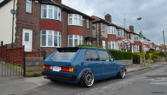 Backender! (smith-jack) Tags: rabbit vw golf volkswagen low stance mk1 vabric fifteen52