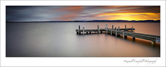 Squids Ink (Maxwell Campbell) Tags: longexposure sunset panorama sun seascape canon newcastle landscape photography pier belmont jetty australia le nsw lakemacquarie squidsink maxwellcampbell