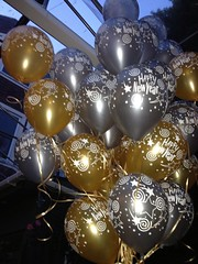 Our work (Sparky's Balloons) Tags: black silver balloons gold newyearseve happynewyear balloonbouquets uploaded:by=flickrmobile flickriosapp:filter=nofilter
