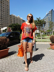 Silk & Vintage (Love by N) Tags: orange fashion vintage outfit shoes sandals silk makeup style jewelry jewellery purse bags fashionista diva iconic hermes swag stylish birkin wiwt ootd birkinbag fbloggers fashionblogger lovebyn