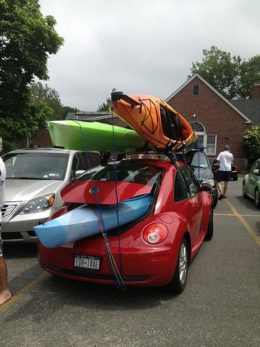 How many kayaks...?