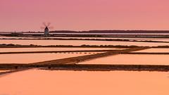 Marsala Salt Mines (Fabio Montalto) Tags: sunset italy windmill sicily saline marsala saltmines saltmarshes saltevaporationpond salinedimarsala