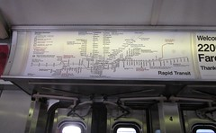 older Rapid Transit map on final run of 2200-series CTA cars (katherine of chicago) Tags: chicago cta blueline maps 2200series 2200seriesfinalrun