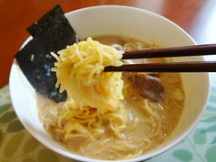 Tonkotsu Ramen with Homemade Pork! (Phreddie) Tags: life china food home lunch happy soup yum shanghai weekend delicious pork eat homemade ramen noodle shiro kyushu tonkotsu 130824