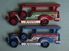 PHILLIPPINES JEEPNEY (streamer020nl) Tags: blue red 1982 blauw jeep transport souvenir converted rood philipino jeepney quiapo diecast promite philippineairlines jaialai baclaran promodel up9002