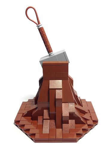 Mjölnir (Thor's Hammer) - LEGO Mini MOC