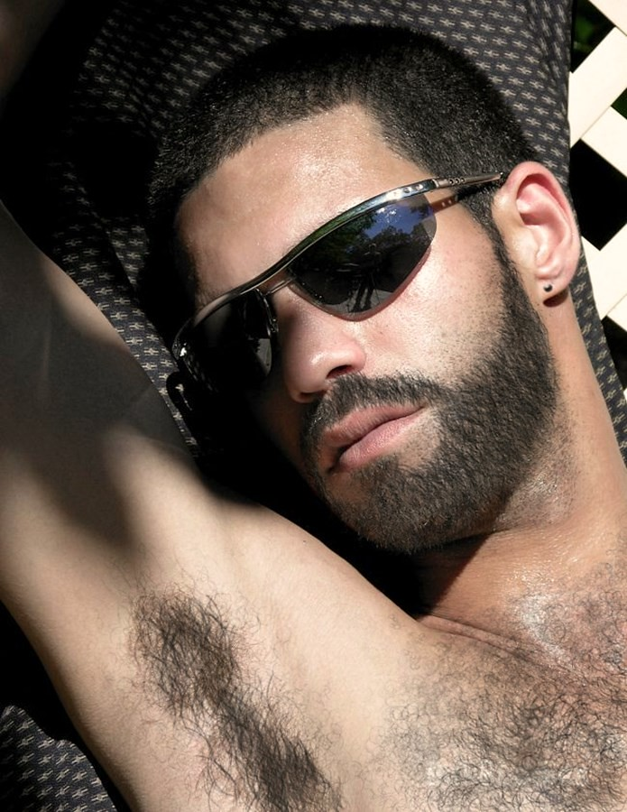 Hairy male nipple