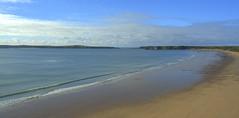 Tenby Beach (mikeyb125) Tags: beach water wales coast waves westwales tide pembrokeshire tidal