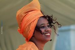 Happiness (Maria Michalinos-www.debop.gr/deBlog/the-athenians) Tags: africa woman colour beautiful smile festival happy african local foodandhandicraft