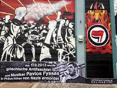Red Stuff Fassade - Pavlos Fyssas - never forget!! (seven_resist) Tags: red berlin kreuzberg remember wing right athens greece stuff murder killed hip hop rap left fascism griechenland rapper murdered fascist activist antifascist athen antifa antifascista