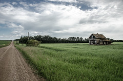 Old Dirt Road (_Codename_) Tags: road house abandoned field landscape alberta