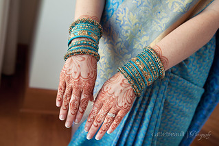 Bridal hands and bangles