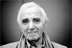 Mr #CharlesAznavour in front of my camera in Paris - Interview dimanche à 8:40 sur @europe1 (nikosaliagas) Tags: