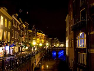 Kijkend richting de Maartensbrug en Vismarkt, Utrecht.