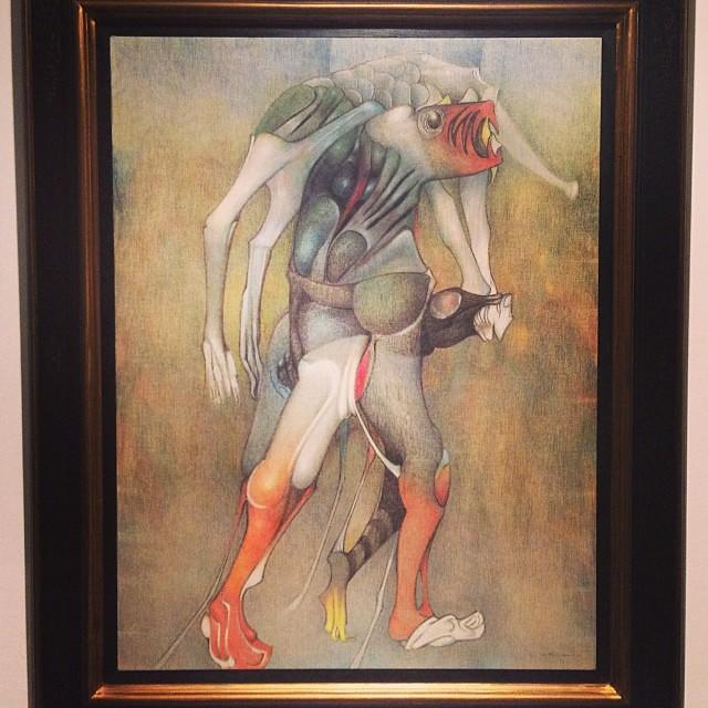 """""""Le Chargeur de Viande"""" 1977 • """"El Pasado Presente"""" de Gerardo Chávez #art #arte #arteenlima #artinlima #artista #artist"""
