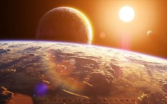 Sun-View-From-Earth (GurshobitBrar) Tags: blue red galaxy planets newworlds