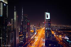 Dubai Skyline (Cannon Taylor Photography) Tags: travel dubai middleeast burjalarab nightsky unitedarabemirates travelphotography dubaiskyline kalifa cannontaylorphotography