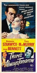 There's Always Tomorrow (1956 / Universal-International) 3 sheet (KlaatuCarpenter) Tags: movieposter joanbennett barbarastanwyck fredmacmurray rosshunter douglassirk jimjonson