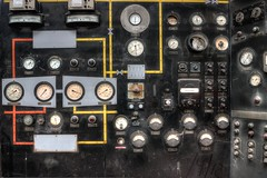 The instrument of torture (How i made my Frankenstein) (The loneliness of the long distance photographer) Tags: abandoned industry control panel dust derelict dials ngte pyestock