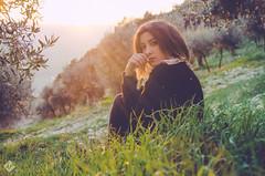 Arianna  (Luigi Pica) Tags: wood light sun film nature canon vintage woodland lens 50mm reflex nikon bokeh rays lightray