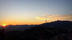 Barcelona ( Tibidabo ) (Edgar Toms) Tags: barcelona city sunset urban mountain skyline bcn