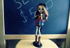 Hola puta (JoolianShmoolian) Tags: flowers art monster skeleton skull high doll class sugar scars skelita