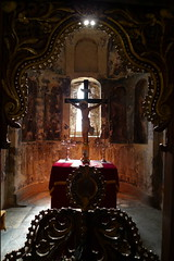 Orthodox Church Interior - Mystras - Sparta, Greece (John Meckley) Tags: greece sparta mystras