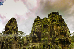 Angkor Thom. (arturii!) Tags: trip travel sky sculpture beauty face rock stone architecture clouds wow landscape temple amazing nice interesting construction holidays asia cambodia tour place superb magic awesome religion great cara holy route stunning viatge siemreap vacations impressive gettyimages cambodja angkorthom cambodya arturii arturdebattk vision:mountain=0768 vision:plant=0875 vision:flower=0601 vision:outdoor=053 nikomsoutr