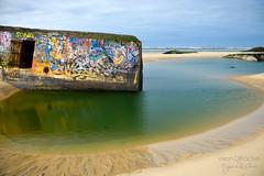 Bunkers au Cap-Ferret ((Virginie Le Carré)) Tags: tag bunker grandes plage atlantique capferret aquitaine gironde marées